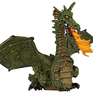 Papo Green Winged Dragon with Flame figure - 39025 | LeVida Toys