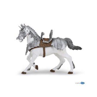 Papo Horse in Armour - Medieval Era figure - Papo 39799 | LeVida Toys