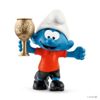 Schleich Football Smurf with Trophy figure - Schleich 20807 | LeVida Toys