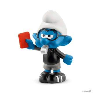 Schleich Football Smurf Referee The Smurfs figure - 20809 | LeVida Toys