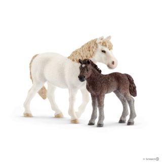 Schleich Dartmoor Pony Mare and Foal Farm Life - 42423 | LeVida Toys