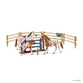 Schleich Lisa's Tournament Training Horse Club - 42433 | LeVida Toys