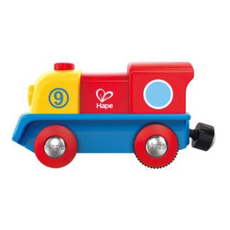 Battery Powered Brave Little Engine by Hape | LeVida Toys