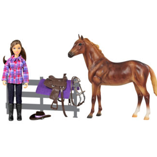 Western Horse And Rider, Breyer Classics (1:12 Scale) Figures | LeVida Toys