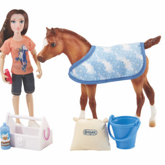 Bath Time Fun, Breyer Classics (1:12 Scale) Play Set | LeVida Toys