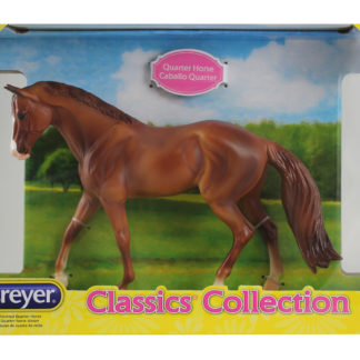 Chestnut Quarter Horse, Breyer Classics (1:12 Scale) Horse Figure. | LeVida Toys