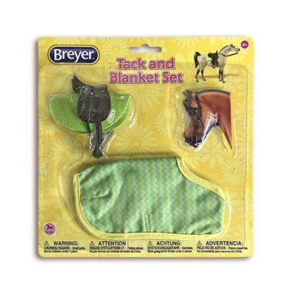 English Tack And Blanket Set (Green), Breyer Classics (1-12 Scale) | LeVida Toys