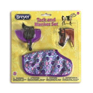 English Tack And Blanket Set (Purple), Breyer Classics (1-12 Scale) | LeVida Toys