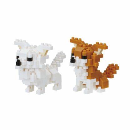 Nanoblock's Mini Collection, Chihuahuas (NBC-259) | LeVida Toys