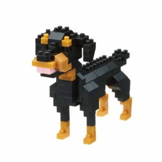 Nanoblock's Mini Collection, Rottweiler (NBC-263) | LeVida Toys