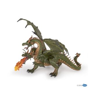 Papo Two Headed Dragon - Fantasy World figure - Papo 36019 | LeVida Toys