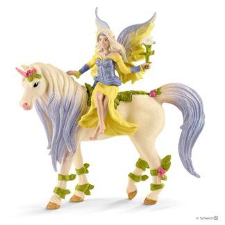 Schleich Fairy Sera with Blossom Unicorn Bayala figure - 70565 | LeVida Toys
