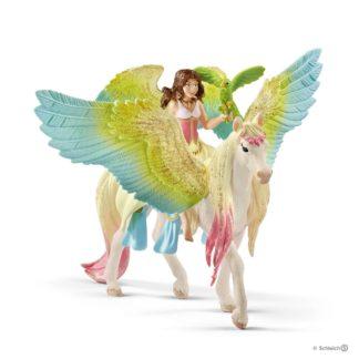 Schleich Fairy Surah with Glitter Pegasus Bayala figure - 70566 | LeVida Toys