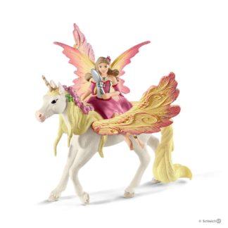 Schleich Fairy Feya with Pagasus Unicorn Bayala figure - 70568 | LeVida Toys