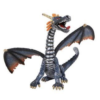 Dragon Sitting Blue/Siver figure by Bullyland (Model: 75594) | LeVida Toys