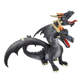 Dragon Double-Headed Black by Bullyland (Model: 75597) | LeVida Toys