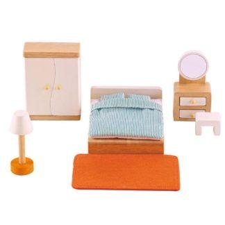 Hape Master Bedroom (E3450) Dolls House Set | LeVida Toys