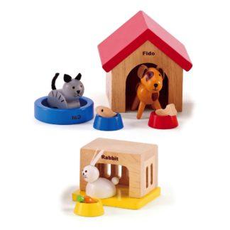 Hape Family Pets (E3455) Doll's House Set | LeVida Toys