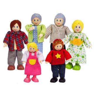 Hape Caucasian Doll Family (E3500) for Dolls House | LeVida Toys
