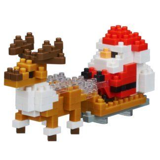 Nanoblock Santa Claus with Reindeer (NBC-234)   LeVida Toys