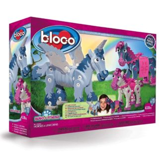 Bloco Build A Friend Horses and Unicorns construction set | LeVida Toys