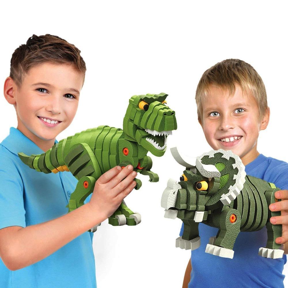 Bloco T-Rex & Triceratops constuction set (BC-35002) | LeVida Toys