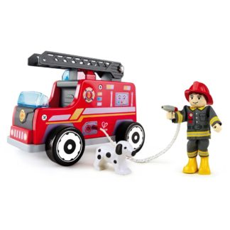 Hape Fire Truck with firefighter (E3024) | LeVida Toys