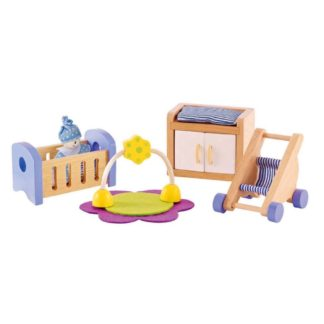 Hape Baby's Room dolls house furniture set (E3457) | LeVida Toys