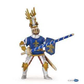 Papo Blue Knight Fleur de Lys - Medieval Era - 39788 | LeVida Toys