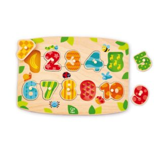Hape Number Peg Puzzle (E1404) | LeVida Toys