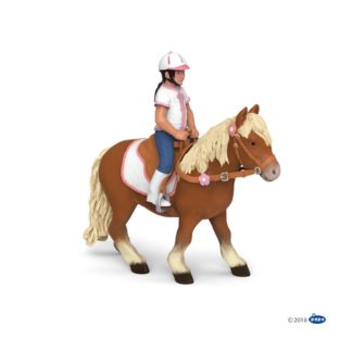 Papo Shetland Pony with Saddle - 51559 | LeVida Toys
