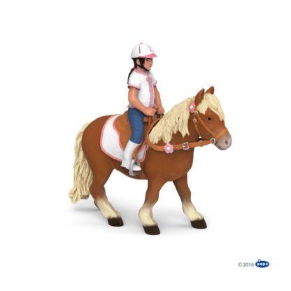 Papo Shetland Pony with Saddle - 51559   LeVida Toys