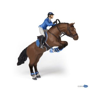 Papo Jumping Horse with Riding Girl - 51560 | LeVida Toys