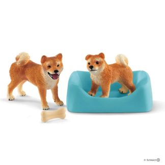 Shiba Inu Mother and Puppy (Schleich 42479) | LeVida Toys