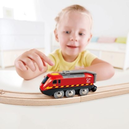 Hape Crank-Powered Train (E3761) for wooden railway | LeVida Toys