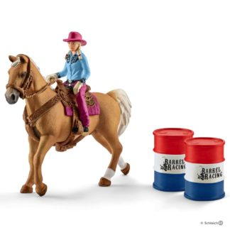 Barrel Racing with Cowgirl (Schleich 41417) | LeVida Toys