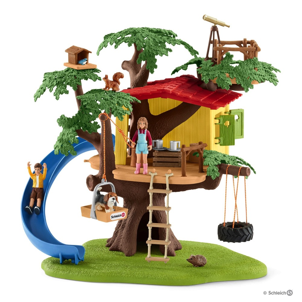 Schleich Adventure Tree House | LeVida Toys on animal safari wildlife, fisher-price farm animal set, farm animal safari set, animal planet wildlife tree house bridge, animal planet wildlife family, lego wildlife set, ocean sea animal set, animal planet wildlife game, jurassic park toy set, animal toys,
