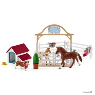 Schleich Hannah's Guest Horses with Ruby the Dog - 42458 | LeVida Toys