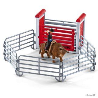 Schleich Bull Riding with Cowboy - 41419 | LeVida Toys