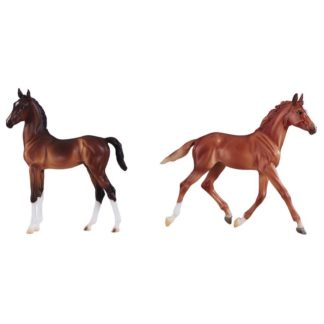 Best Of British Foal Set - Thoroughbred & Hackney (Breyer Traditional 1:9 Scale)