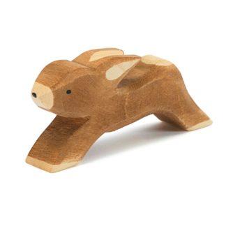 Ostheimer Rabbit Running wooden figure - Ostheimer 15002 | LeVida Toys