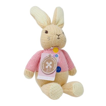 Flopsy Rabbit Made With Love Knitted Toy | LeVida Toys