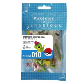 Pokemon Caterpie & Pokeball (Nanoblock NBPM-010) | LeVida Toys