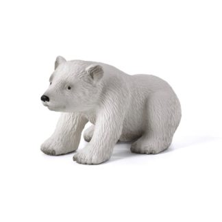Polar Bear Cub Sitting (Animal Planet 387021) | LeVida Toys