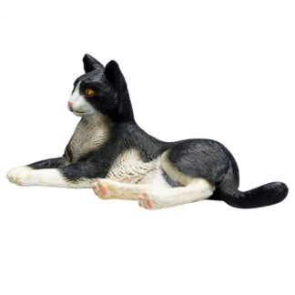 Cat Lying Black and White (Animal Planet 387367) | LeVida Toys