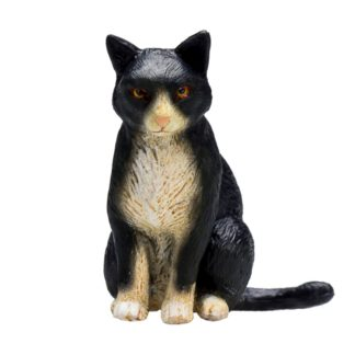 Cat Sitting Black and White (Animal Planet 387371) | LeVida Toys