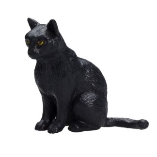 Cat Sitting Black (Animal Planet 387372) | LeVida Toys