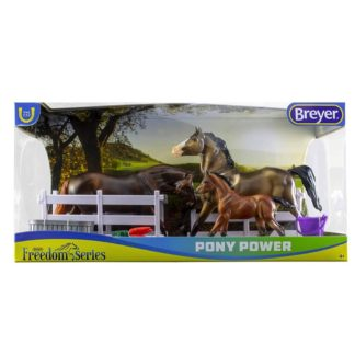 Pony Power Set of 3 Welsh Ponies (Breyer Freedom Series - 62200) | LeVida Toys