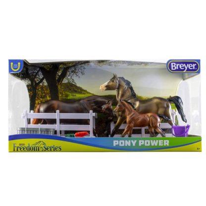 Pony Power Set of 3 Welsh Ponies (Breyer Freedom Series - 62200) | LeVida Toys