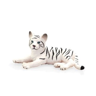 White Tiger Cub Laying Down (Animal Planet 387015) | LeVida Toys